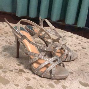 Gianni Bini Silver Rhinestone Heels
